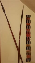 African spears and Kenti scarf