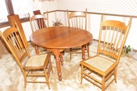 ON AUCTION, ANTIQUE DINING ROOM SET