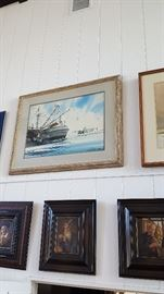 Shrimp Boat Painting done by artist Al Barnes