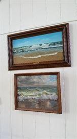 Top painting done by artist Jacqueline Kresman, Patricia Krueger Seascape