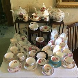 Fine English Bone China Teacups & Saucers