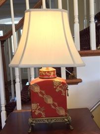 Asian lamp; 24 inches tall