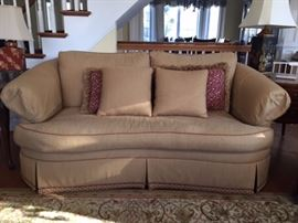 Ethan Allen couch; 80 in in length; 40 in in depth.  Durable fabric, excellent support.