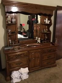 American Drew dresser with hutch top