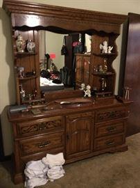 American Drew dresser with hutch top