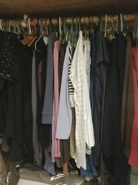 Every closet filled....mostly size medium