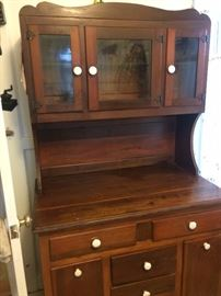 This is a great looking vintage cupboard.  Again, not large, just the perfect size.