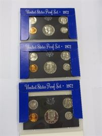 1972 proof - just a samplings - many to choose from and varying years