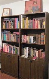 Vintage books, book cases, Art