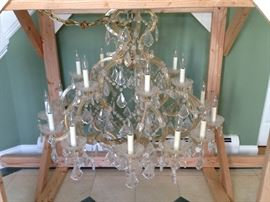 Crystal Chandelier with Matching Sconces