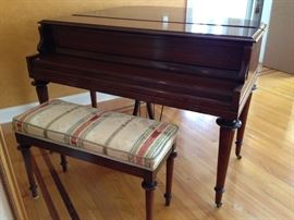 Baby Grand Piano & Bench