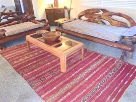 Burl, log, root & limb, sofa and love seat.  Truly statement pieces with the right upholstery!