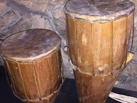 African style tribal drums