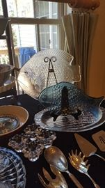 Coastal Carolina glass fish platters.