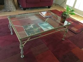 Iron & glass coffee table