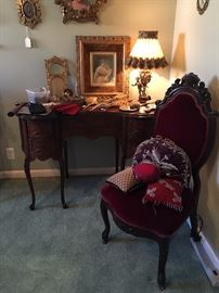 Another view of kidney shaped desk and chair