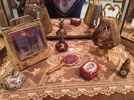 Beautiful trinkets and pocket watch holders