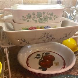 Pie plates, casserole dishes: lots of dishes in this home