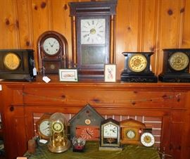 Antique clocks from New Haven Clock company, Seth Thomas, and other great brands