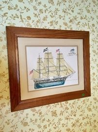 Framed ship drawing