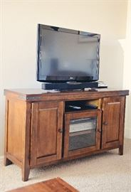 Media Console with Industrial Flair