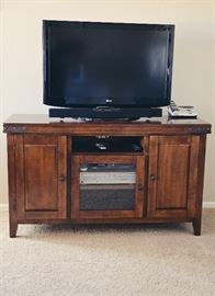 """Media Console with Industrial Flair & 37"""" Flat Screen TV (LG 37LH20)"""