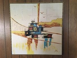 Lovely large midcentury painting