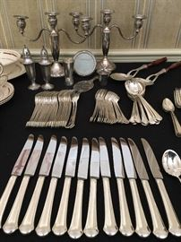Towle Chippendale Sterling Flatware, 89 Pieces