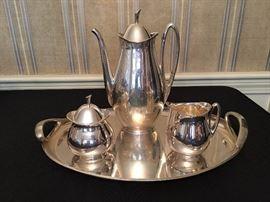 Mid Century Sterling Coffee Set