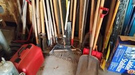 Lots of yard tools