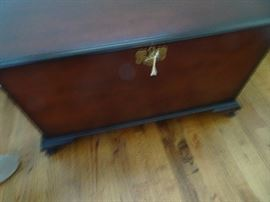 "Antique Mahogany Cedar Chest 35""L X 18""D X 28""H"