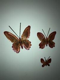 BUTTERFLIES-METAL WALL ART