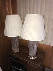 VINTAGE CRYSTAL LAMPS