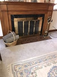 FIREPLACE TOOLS AND WOOD LOGS