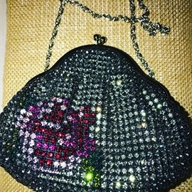 JOHANN BECKER SPARKLING RHINESTONE HANDBAG / EVENING CLUTCH