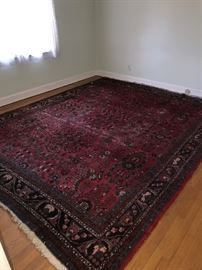 LARGE RED WOOL AREA RUG