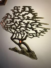 BRASS METAL ORIENTAL TREE