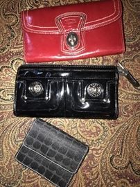 COACH, KATE SPADE AND MARC JACOBS WALLETS