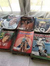 VINTAGE SPORTS ILLUSTRATED AND MAD MAGAZINES , COMIC BOOKS AND MORE