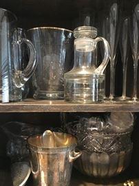 Glassware, kitchen ware & collectibles