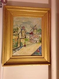 Lots of vintage art and many contemporary frames