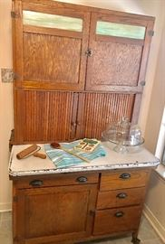 All original oak Hoosier cabinet