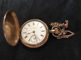 1895 Seth.  Thomas gold filled pocket watch , running. Nice piece