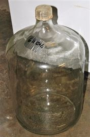 Glass Jugs & Bottles: 6 ½ Gal., 4 Gal., More