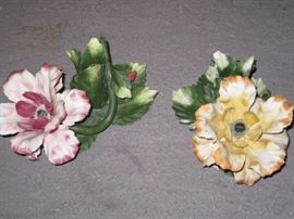 Capodimonte candle holders. Perfect condition