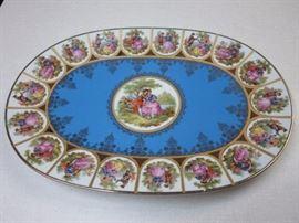 Bavarian porcelaine ablong serving platter 15X10 1/4