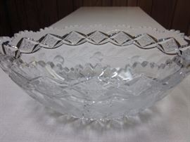 Bohemian Checkoslavakian Crystal oval center piece