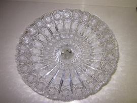 Queen lace Bohemian  Czechoslovakia Crystal round plate