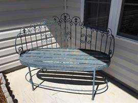 Cute bench for your porch , all metal bench
