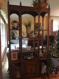 nice room divider/open book shelf with storage